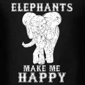 Elephants Make Me Happy - Men's T-Shirt