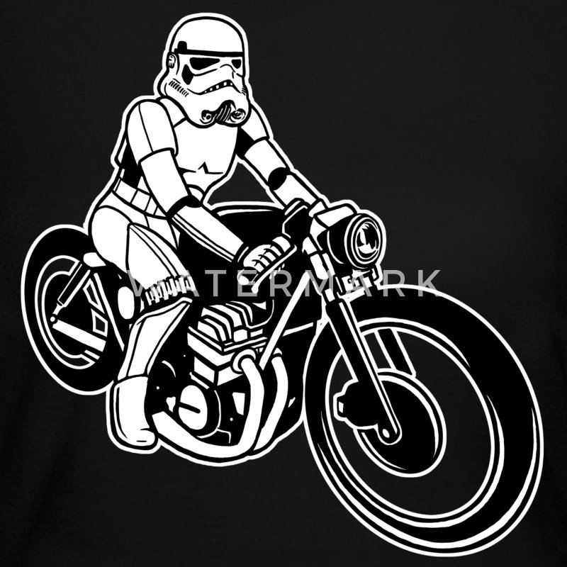 Stormtrooper Motorcycle Long Sleeve Shirts - Women's Long Sleeve Jersey T-Shirt