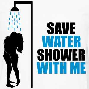 Save water shower with me - Men's Premium Long Sleeve T-Shirt