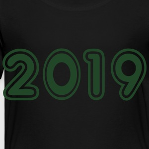 2019, Numbers, Year, Year Of Birth Kids' Shirts - Toddler Premium T-Shirt