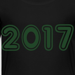 2017, Numbers, Year, Year Of Birth Kids' Shirts - Toddler Premium T-Shirt