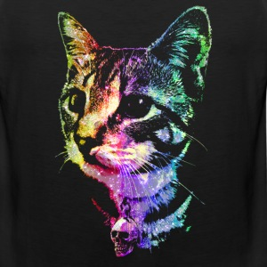 Rainbow Skull Kitty - Men's Premium Tank