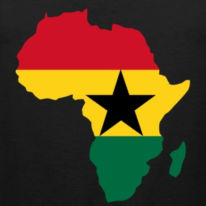 Men's Ghana Flag In Africa Map T-Shirt - Men's Premium Tank