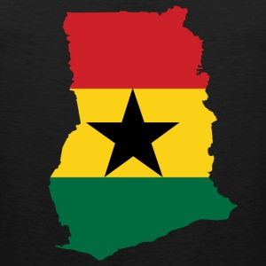 Ghana Map Flag T-Shirt - Men's Premium Tank