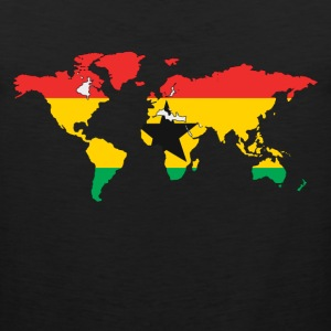 Ghana Falg In World Map T-Shirt - Men's Premium Tank