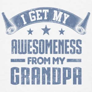 Awesomeness From Grandpa Baby Bodysuits - Men's T-Shirt