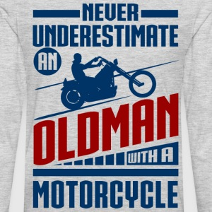Old Man With Motorcycle T-Shirts - Men's Premium Long Sleeve T-Shirt