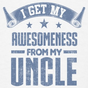 Awesomeness From My Uncle Baby Bodysuits - Men's T-Shirt