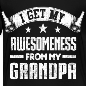 Awesomeness From Grandpa Kids' Shirts - Toddler Premium T-Shirt