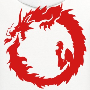 Asian Tribal Fire Dragon T-Shirts - Contrast Hoodie