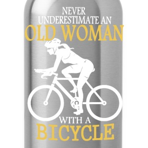 Old Man Bicycle Shirt - Water Bottle
