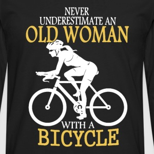 Old Man Bicycle Shirt - Men's Premium Long Sleeve T-Shirt