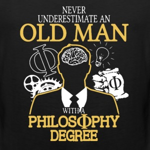 Old Man With Philosophy Degree - Men's Premium Tank