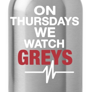 On Thursdays We Watch Greys - Water Bottle