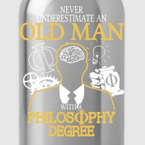 Old Man With Philosophy Degree - Water Bottle