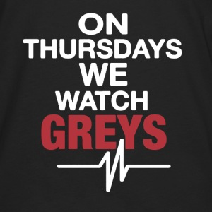 On Thursdays We Watch Greys - Men's Premium Long Sleeve T-Shirt