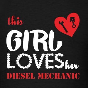 This Girl Loves Her Diesel Mechanic - Men's T-Shirt