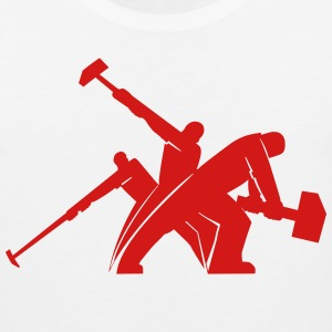 Workers Hammering T-Shirts - Men's Premium Tank