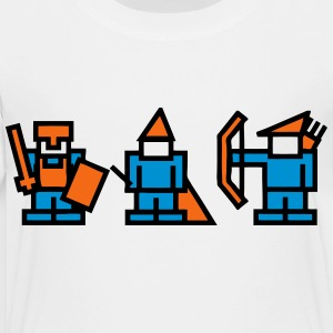 Knight, Wizard, Archer - 8Bit RPG Characters Kids' Shirts - Toddler Premium T-Shirt