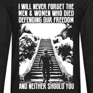 Veterans Never Forget - Men's Premium Long Sleeve T-Shirt