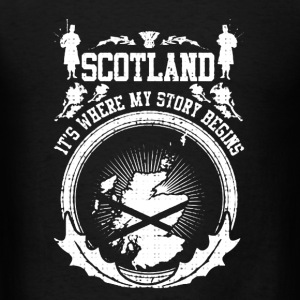 Scotland Where My Story Begins - Men's T-Shirt