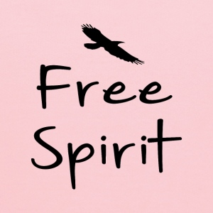 Free spirit text design with bird silhouette - Kids' Hoodie