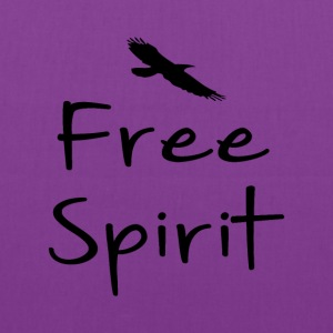 Free spirit text design with bird silhouette - Tote Bag
