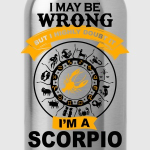 I'm a Scorpio awesome t-shirt for Scorpio T-Shirts - Water Bottle