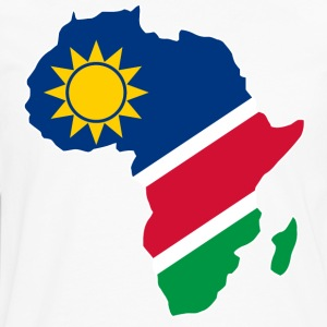 Namibia Flag In Africa Map - Men's Premium Long Sleeve T-Shirt