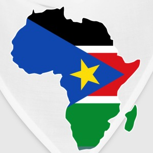 South Sudan Flag In  Africa Map - Bandana