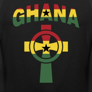 Ghana Christian Cross Ghana Flag T-Shirt - Men's Premium Tank