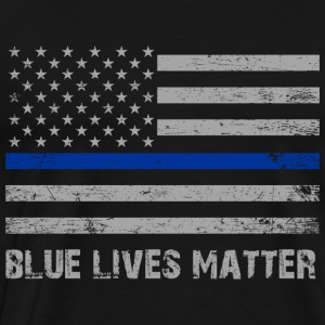 Blue Lives Matter Hoodies - Men's Premium T-Shirt