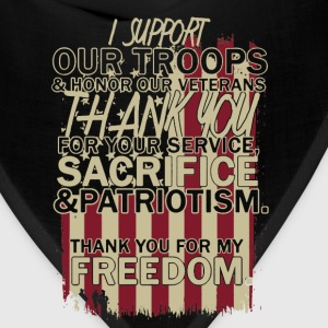 Support Our Troop Shirt - Bandana