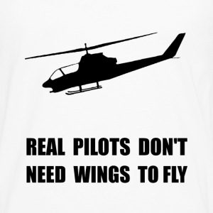 Helicopter Pilot Wings - Men's Premium Long Sleeve T-Shirt