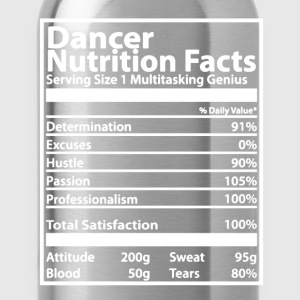 Dancer Nutrition Facts - Water Bottle
