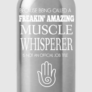Muscle Whisperer Tshirt - Water Bottle