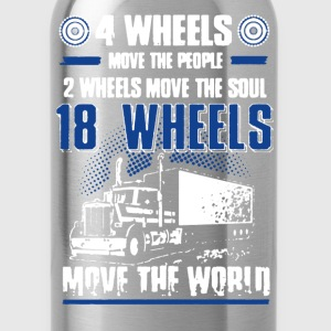 18 Wheels Move Shirt - Water Bottle