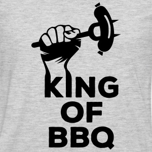 King of BBQ grill barbecue sausage Hoodies - Men's Premium Long Sleeve T-Shirt