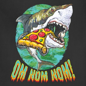 Great White Shark Loves Pizza - Adjustable Apron