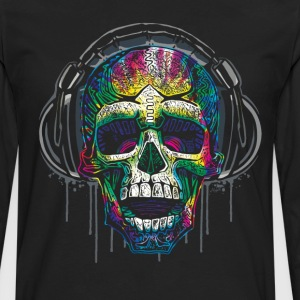 Dripping Skull With Headphones - Men's Premium Long Sleeve T-Shirt