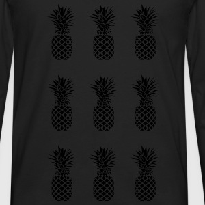 AD Pineapple Pattern Mono Bags & backpacks - Men's Premium Long Sleeve T-Shirt