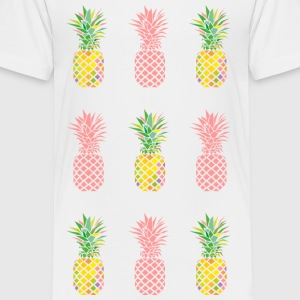 AD Pineapple Pattern Color Kids' Shirts - Kids' Premium T-Shirt