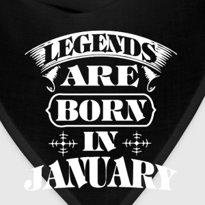 Legend Are Born In January - Bandana