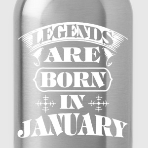 Legend Are Born In January - Water Bottle