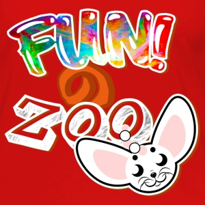 FUNのZOO FENNEC FOX (WHITE) - Women's Premium Long Sleeve T-Shirt