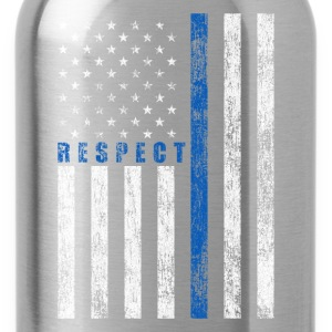 Respect Policemen T-Shirts - Water Bottle