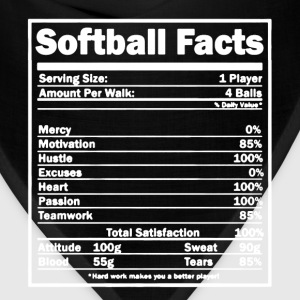 Softball Facts Shirt - Bandana