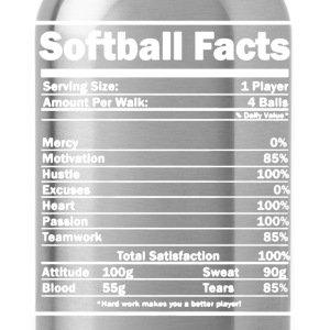 Softball Facts Shirt - Water Bottle