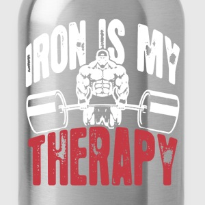 Iron Is My Therapy - Water Bottle