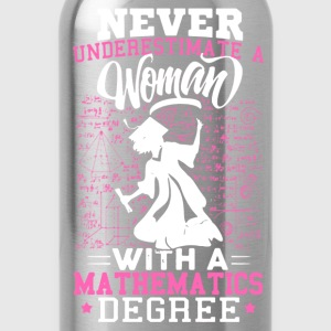 Woman With A Mathematics Degree - Water Bottle